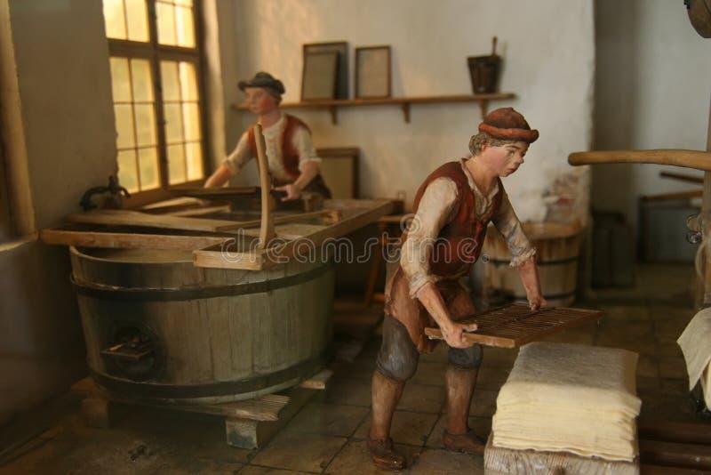 传统工厂的打印 免版税库存图片