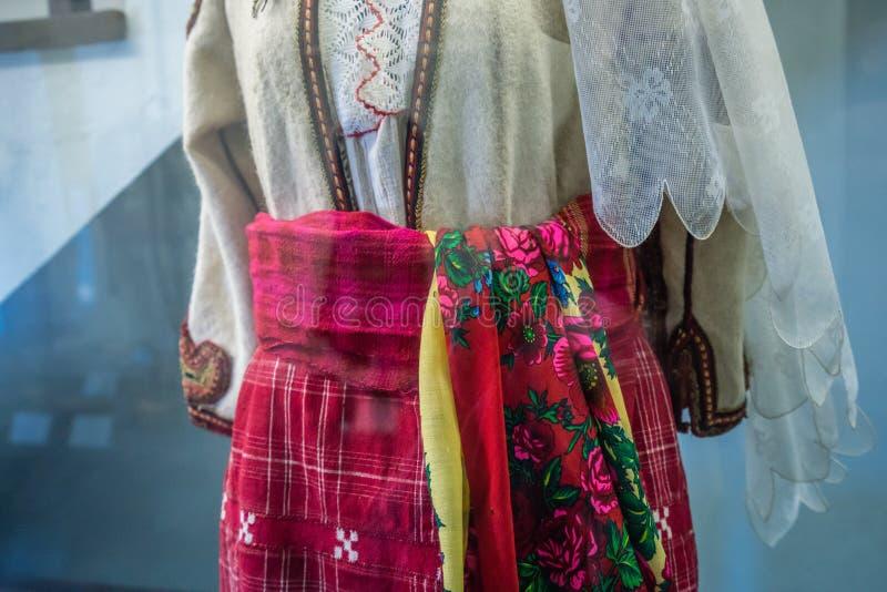 传统巴尔干民间服装 免版税图库摄影