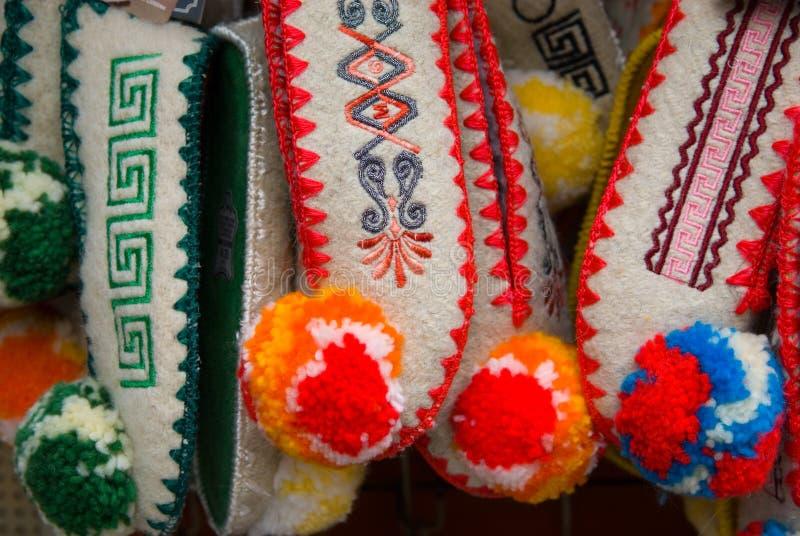 传统希腊的拖鞋 库存照片