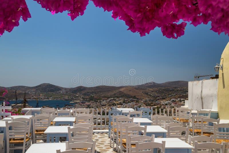 传统希腊taverna 库存照片