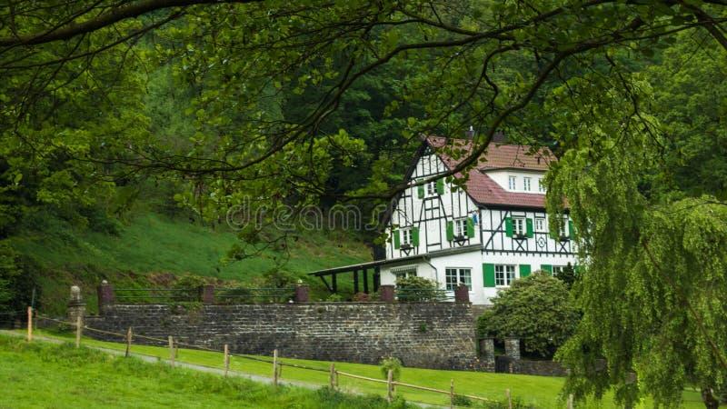 传统德国的房子 库存照片