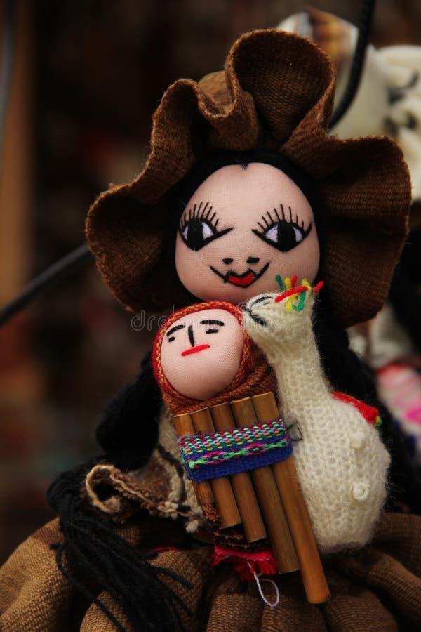 传统手工制造玩偶待售 图库摄影