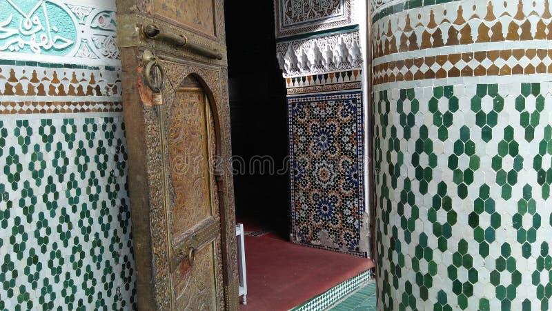 传统摩洛哥建筑学艺术 免版税库存图片