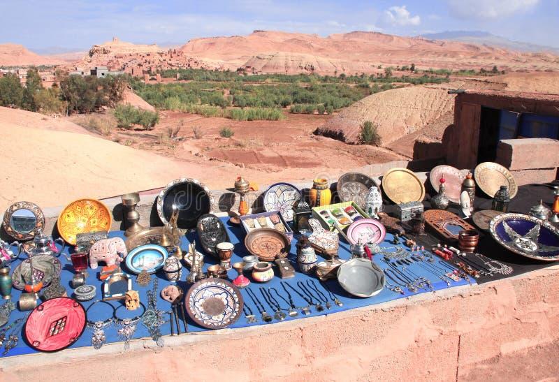 传统摩洛哥纪念品,摩洛哥,非洲 库存照片