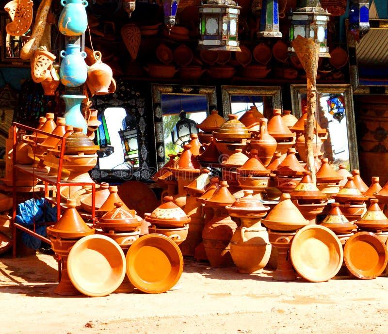 传统摩洛哥纪念品 库存照片