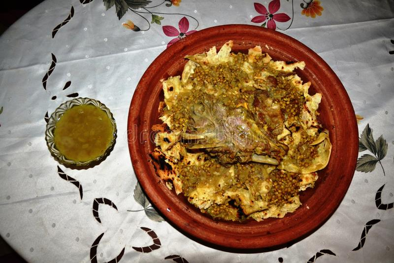 传统摩洛哥肉Rfissa 免版税库存照片