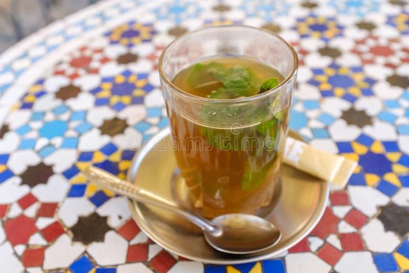 传统摩洛哥薄荷的茶 图库摄影