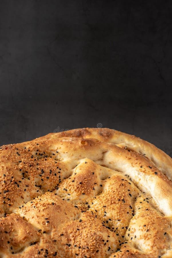 传统斋月皮塔饼 库存图片