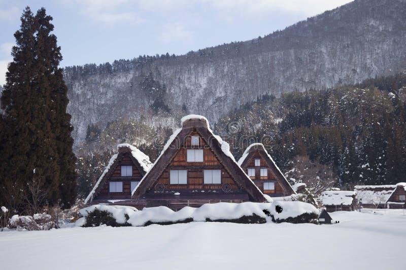 传统日本农厂房子 库存图片