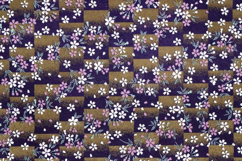 传统日本样式背景 免版税库存照片