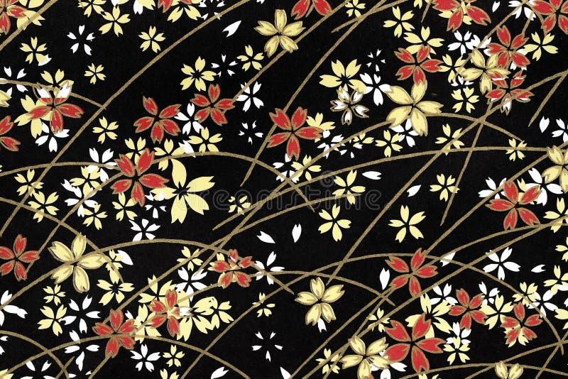 传统日本样式背景 库存照片