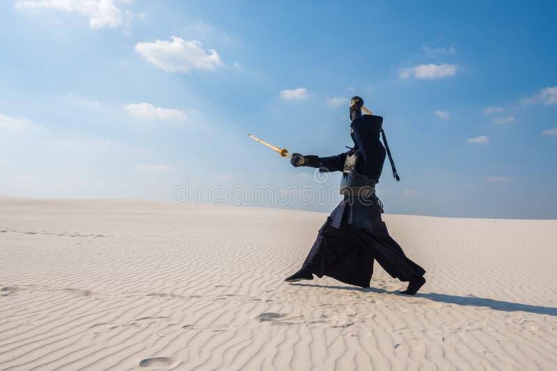 传统日本装甲的人kendo的 库存图片