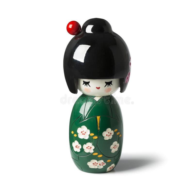 传统日本kokeshi玩偶 免版税库存图片