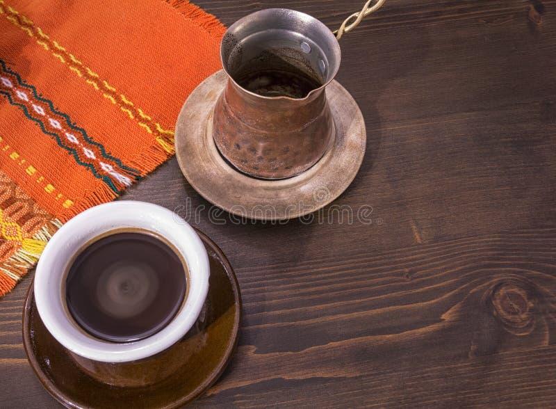 传统服务咖啡 图库摄影