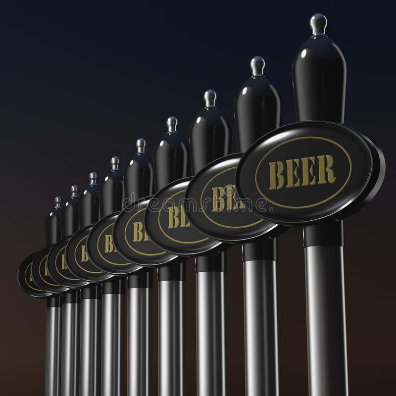 传统桶装啤酒轻拍 皇族释放例证