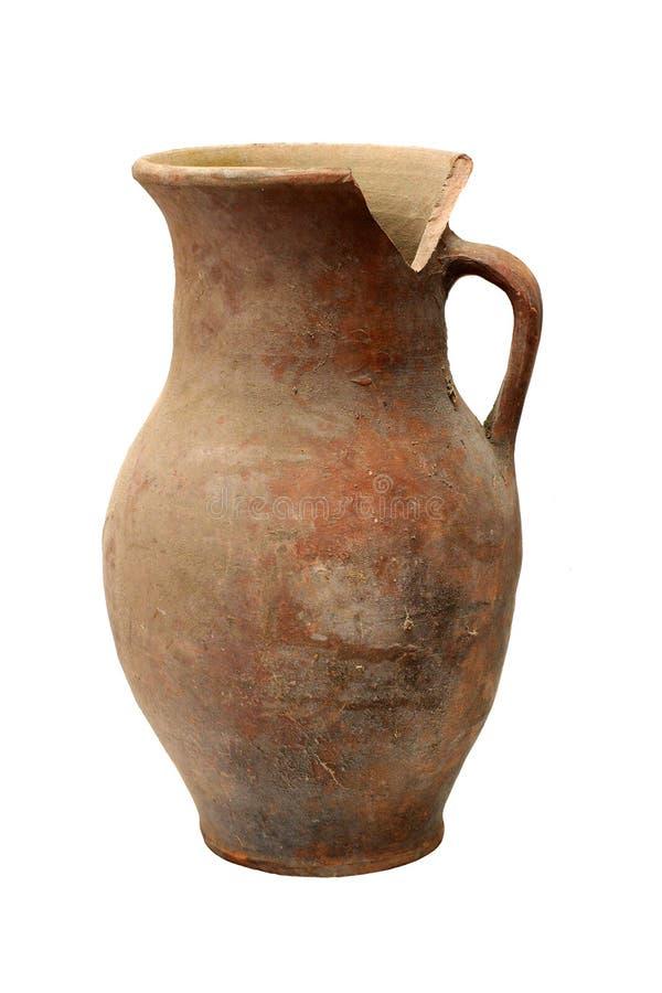 传统残破的水罐 库存照片
