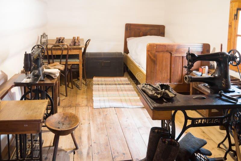 传统民间室在斯洛伐克 免版税库存照片