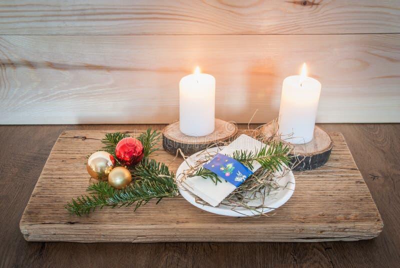 传统波兰圣诞节薄酥饼 免版税库存照片