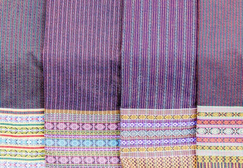 传统泰国织品 库存照片