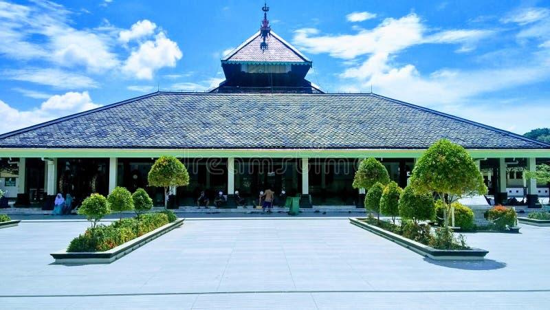 传统清真寺在印度尼西亚Masjid淡目 图库摄影