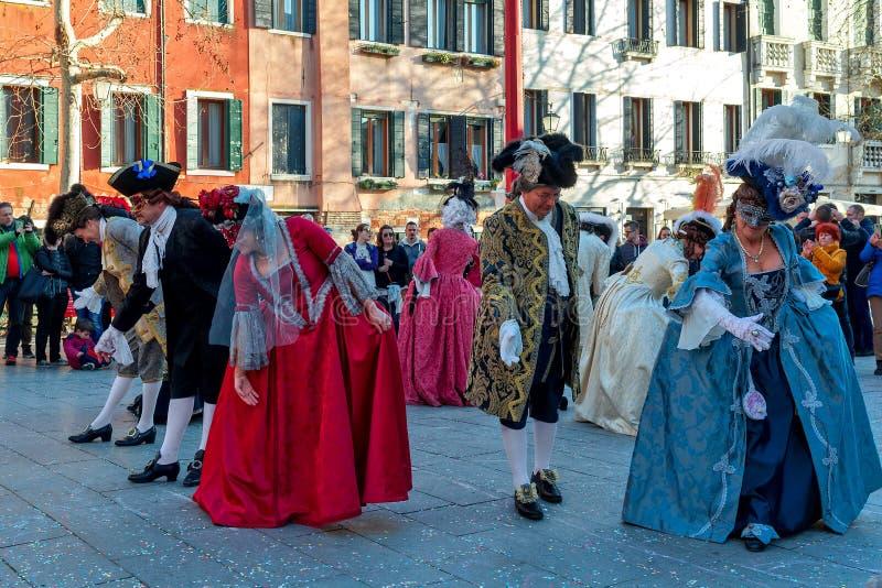 传统狂欢节事件在威尼斯,意大利 免版税库存图片