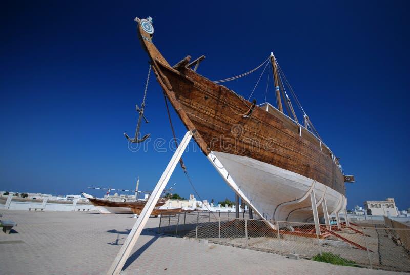 传统的单桅三角帆船 免版税库存图片