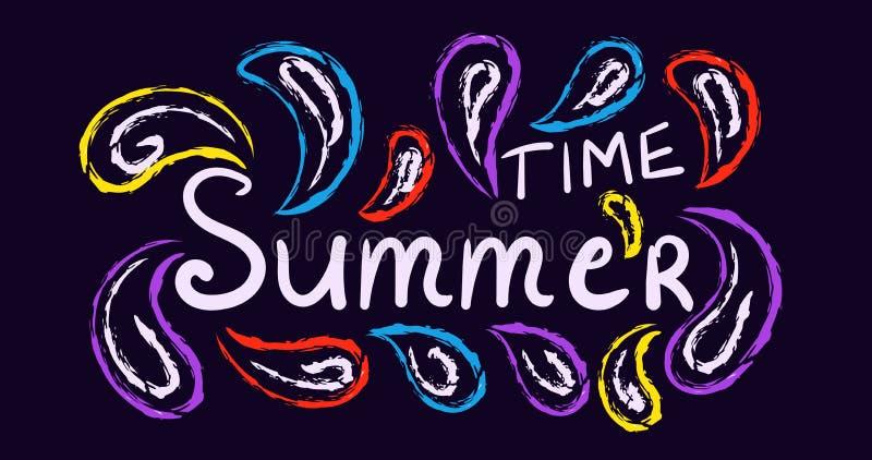 传统的夏天,狂欢节概念海报 皇族释放例证