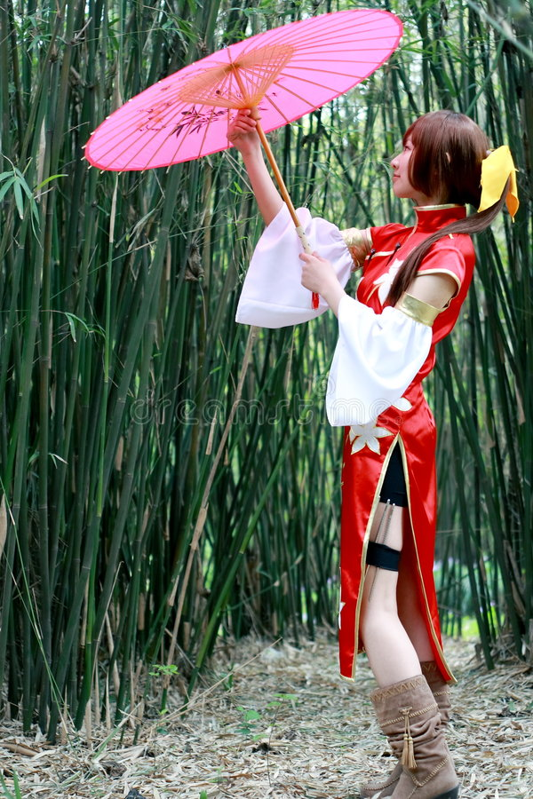 传统的女孩 免版税库存照片