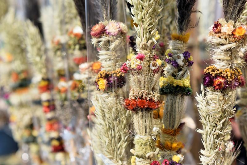 传统立陶宛人复活节棕榈 免版税库存图片