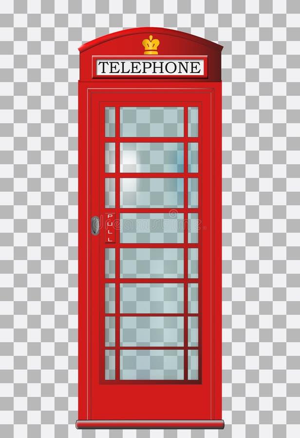 传统红色伦敦电话亭 皇族释放例证