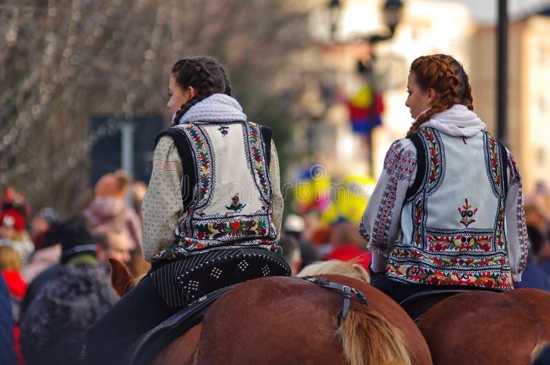 传统罗马尼亚民间服装 免版税图库摄影