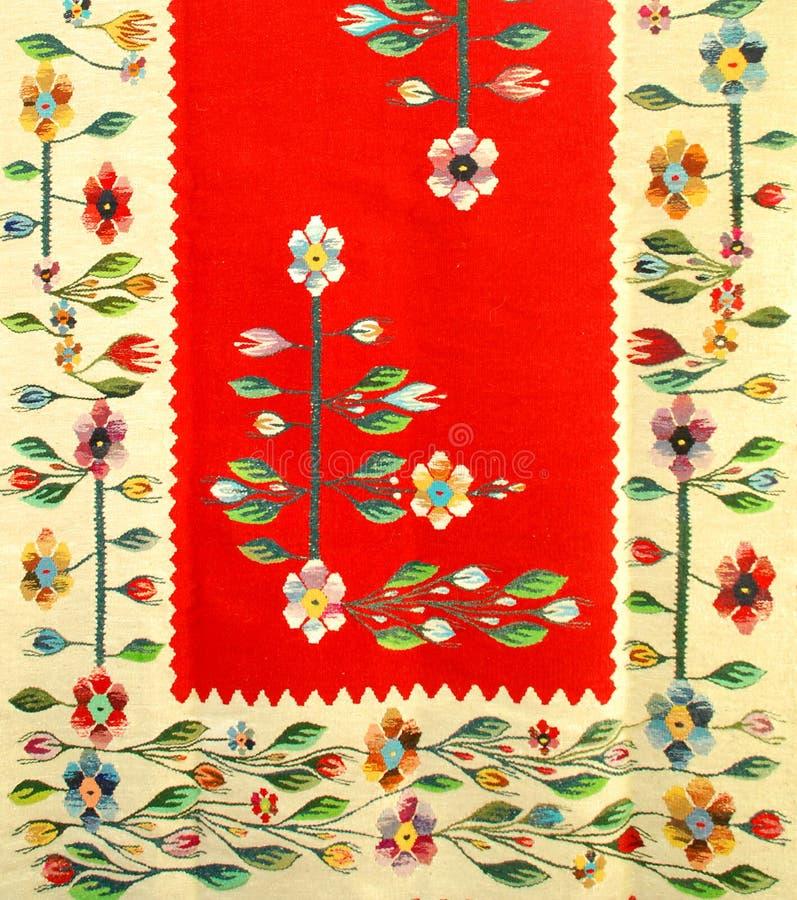 传统罗马尼亚的地毯 库存照片