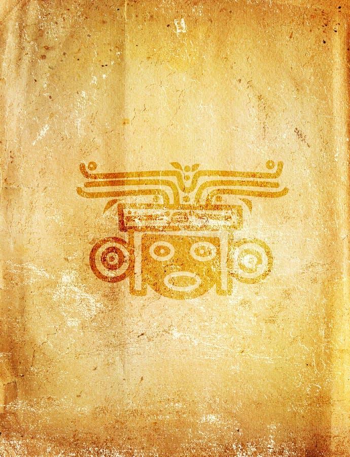 传统美洲印第安人的模式 库存例证