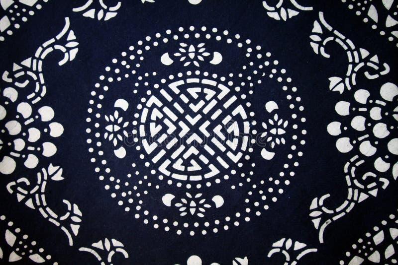 传统背景中国布料的模式s 免版税库存照片