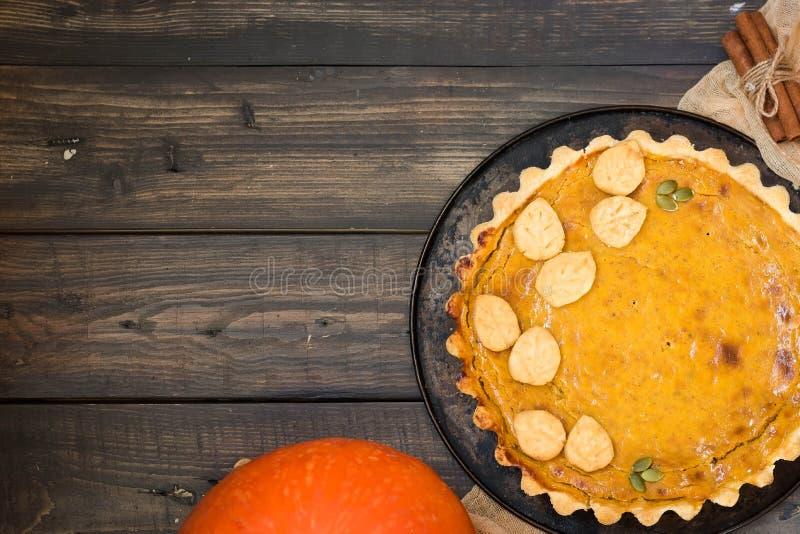 传统自创美国南瓜饼一个假日 库存图片