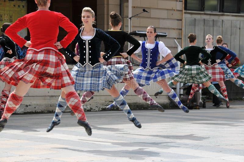 传统舞蹈演员爱丁堡苏格兰的纹身花&# 库存图片