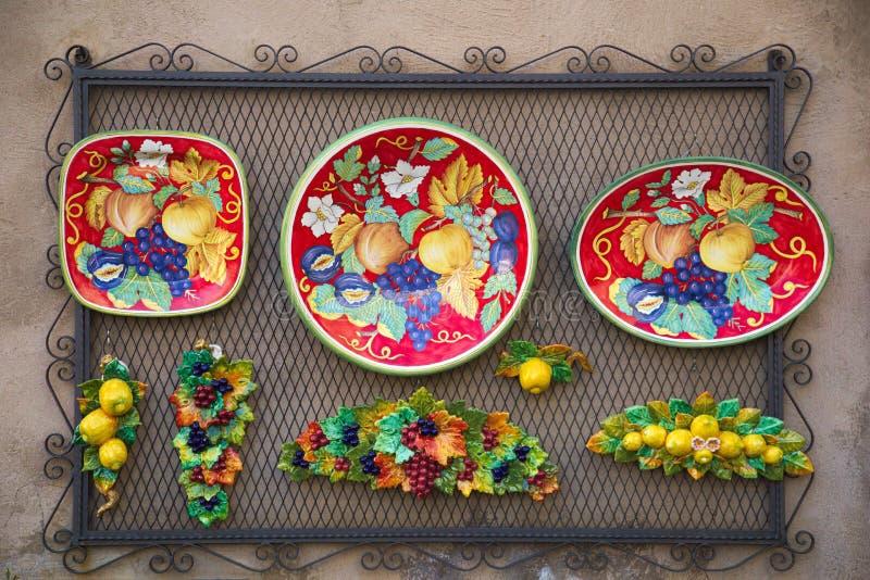 传统艺术陶瓷, orvieto, terni,翁布里亚意大利,欧洲 免版税库存图片