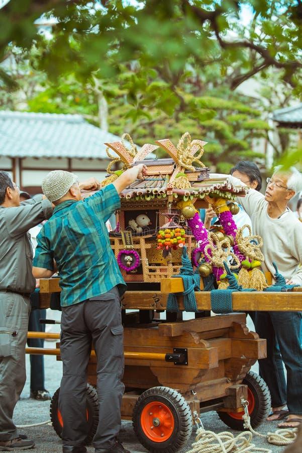 传统节日在京都,日本 库存照片