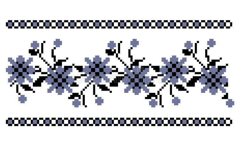 传统花卉刺绣 免版税图库摄影