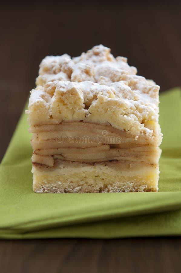 传统苹果饼波兰的szarlotka 图库摄影