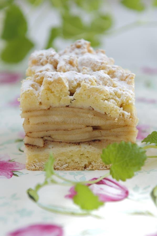 传统苹果饼波兰的szarlotka 免版税图库摄影