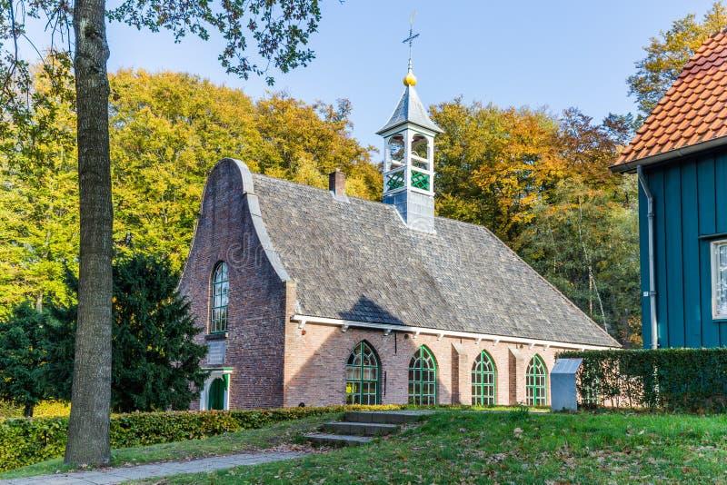 传统荷兰教会场面 库存图片