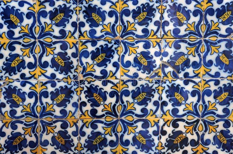 传统葡萄牙陶瓷砖 库存图片