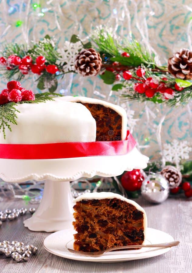传统蛋糕的圣诞节 免版税图库摄影