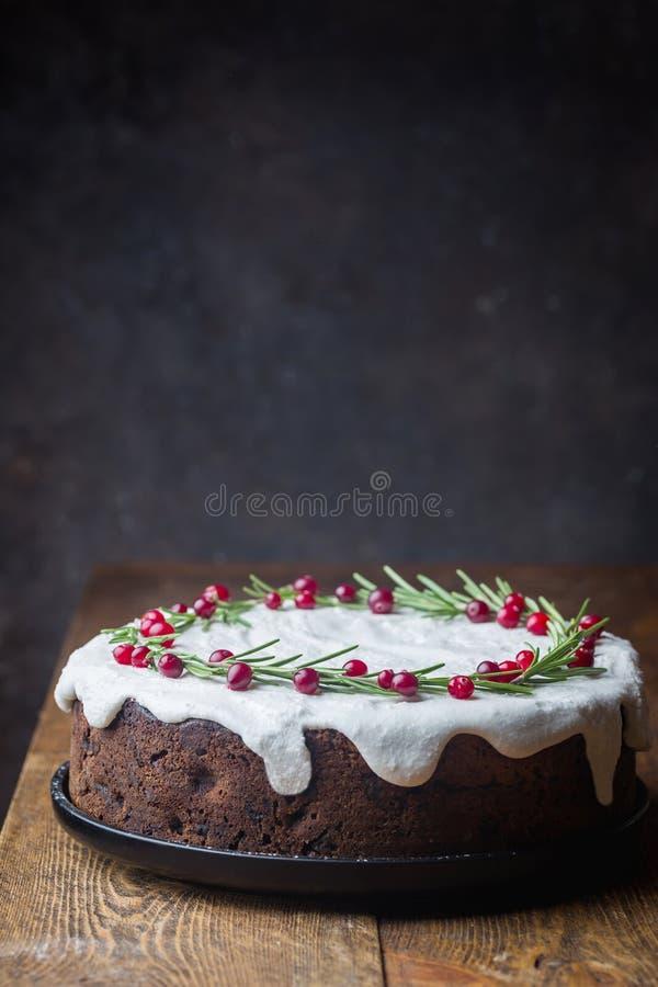 传统蛋糕的圣诞节 免版税库存图片