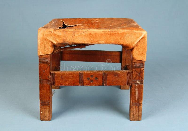 传统被手工造的非洲提取凳 库存图片