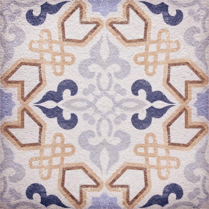 传统装饰瓦片的细节 免版税库存图片