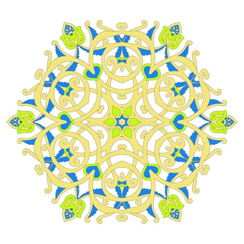传统装饰花卉佩兹利设计 装饰品背景 向量例证