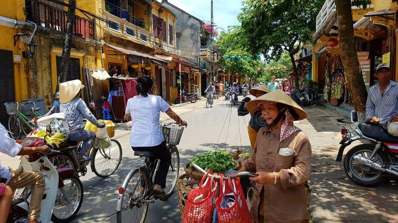 传统越南市场 免版税库存照片