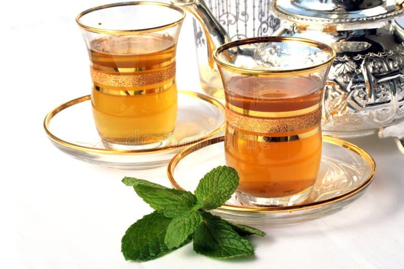 传统造币厂的摩洛哥的茶 免版税图库摄影